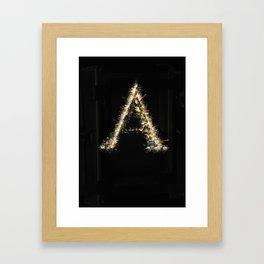 Serif Framed Art Print