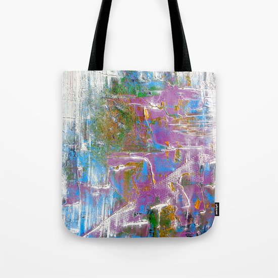 Sky Dive - colorful abstract painting. Tote Bag