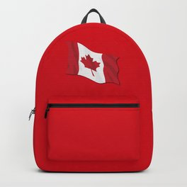 Canada Flag Waving Illustration Backpack