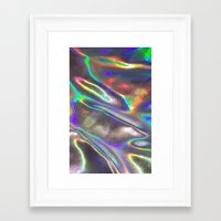 hologram Framed Art Prints featuring Hologram by Claudia