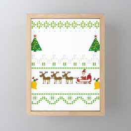Your Mom Believes In Santa Ugly Christmas Sweater Framed Mini Art Print