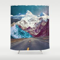 android Shower Curtains featuring The Last Stretch by Jenna Davis Designs