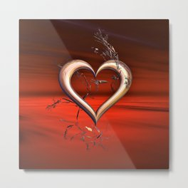 For the Love of Red Metal Print