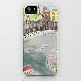The Liffey Swim iPhone Case