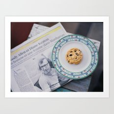 Woody and cookie Art Print