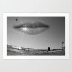 Smily Sky Art Print