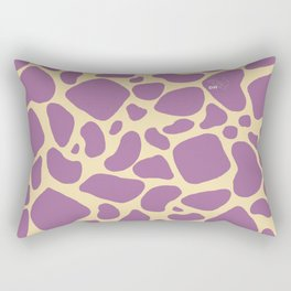 Purple Giraffe Print Rectangular Pillow