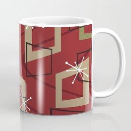 Mid Century Modern Maroon Coffee Mug