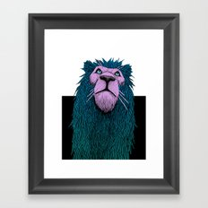 Lion Bust Framed Art Print