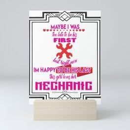 Machanic Girl Friend Lover Garage Industrial Gift Mini Art Print