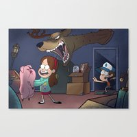 gravity falls Canvas Prints featuring Gravity Falls  by Steven Ray Brown