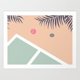 Tennis Court #society6 #decor #buyart Art Print