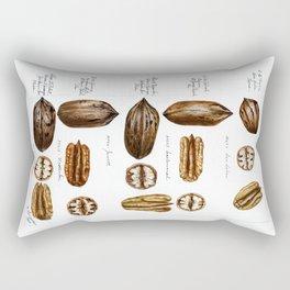 Nuts - Fruit Illustration Rectangular Pillow