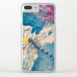 Dragonfly by Maureen Donovan Clear iPhone Case
