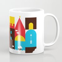 castle Mugs featuring Castle by koivo