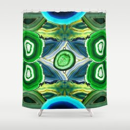 JCrafthouse Agate of Wonder in Royal Green Shower Curtain