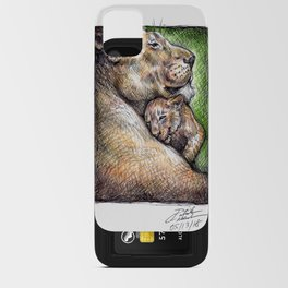 Lioness and Cub iPhone Card Case