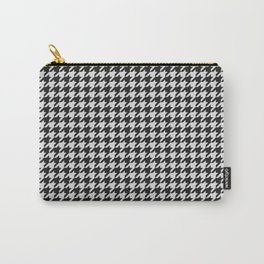 Friendly Houndstooth Pattern, black and white Carry-All Pouch