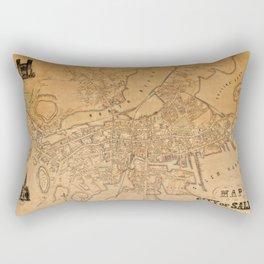 Map of Salem 1851 Rectangular Pillow