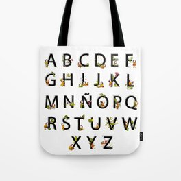 Spanish Alphabet Tote Bag