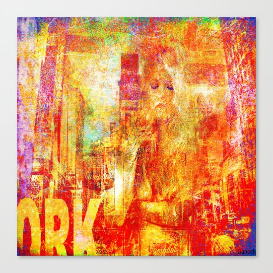 Girl in New-York  Canvas Print