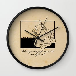 Charles Dickens - Love of a Cat Wall Clock