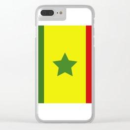 Senegal flag Clear iPhone Case