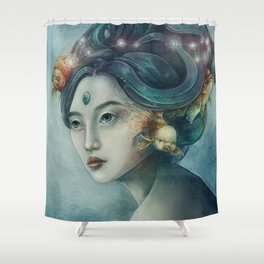 Zodiac Pisces Shower Curtain