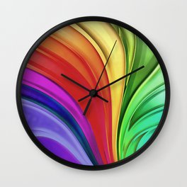 All The Colors Of The Rainbow Wall Clock