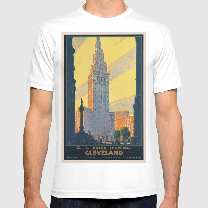 d6d240189b14 Vintage poster - Cleveland T-shirt by mosfunky   Society6