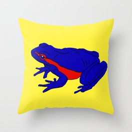 The Beguiling Frog Throw Pillow