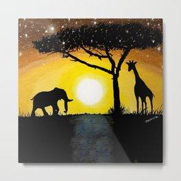 Sunset in Africa Metal Print