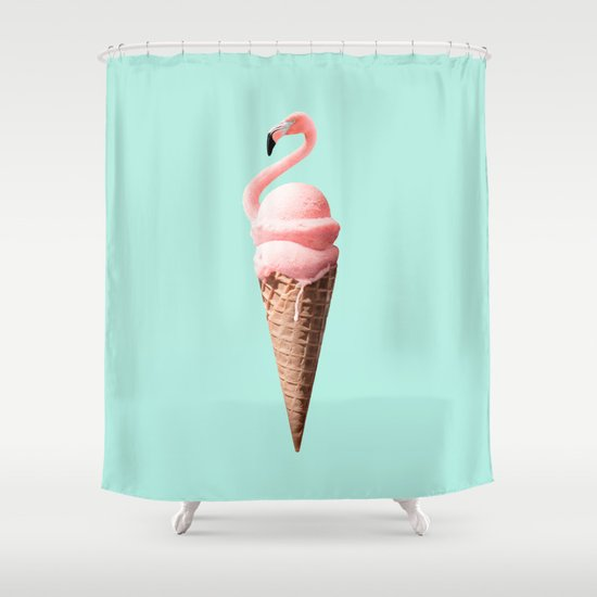 FLAMINGO CONE Shower Curtain By JONAS LOOSE