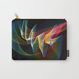 Northern Lights, Abstract Fractal Rainbow Aurora Carry-All Pouch