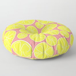 Pink Lemonade Citrus Lemon Slices Floor Pillow