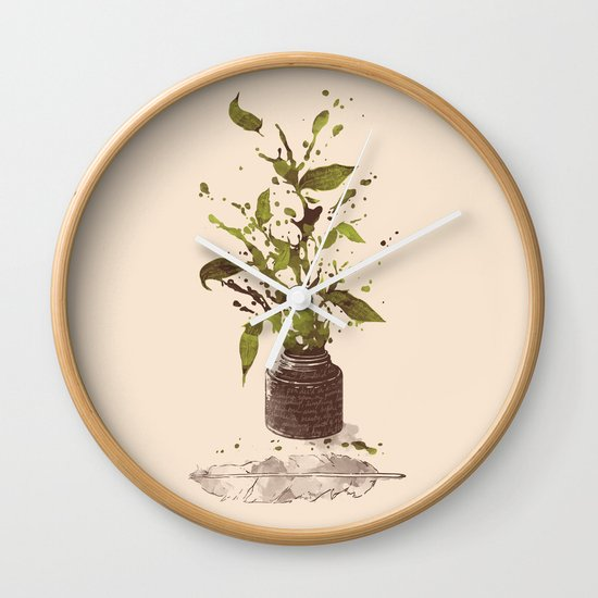 A Writer's Ink Wall Clock