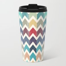 Watercolor Chevron Pattern Travel Mug