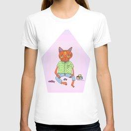 Cat On the Tracks  T-shirt