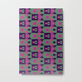 Africa Pop - Geometric Tribal Pattern Metal Print