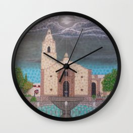 Nublado en Magdalena de Kino Wall Clock