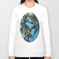 palm tree Long Sleeve T-shirts featuring Palm Tree by Jillian Stanton