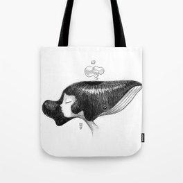 whale women Tote Bag