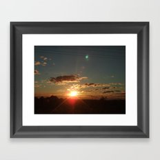 Australian Sunrise Framed Art Print