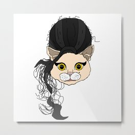 Amy Cat Head Metal Print
