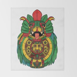 Quetzalcoatl Legacy Throw Blanket