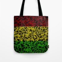 rasta Tote Bags featuring Electric Rasta by organicdreams