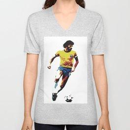 Socrates, Brazilian soccer superman Unisex V-Neck