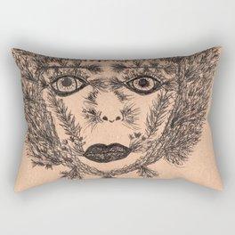 The Cacti Girl Rectangular Pillow