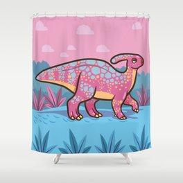Lil' Parasaurolophus Shower Curtain
