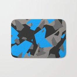 Black\Grey\Blue Geometric Camo Bath Mat